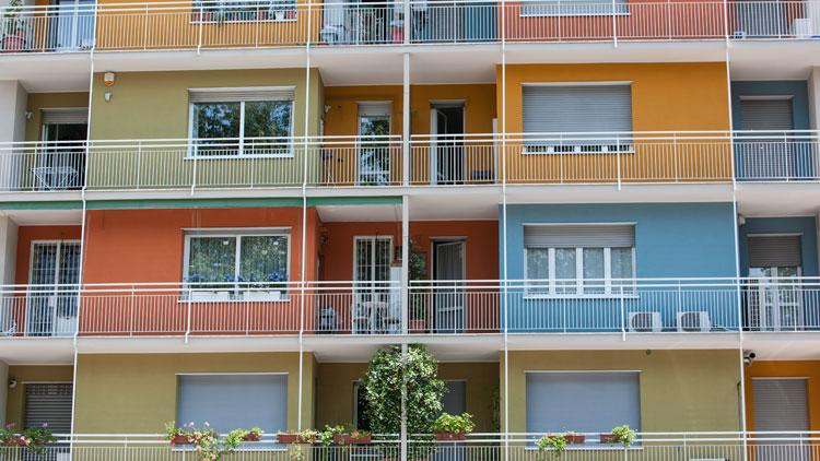 Dettagli dei colori di facciata