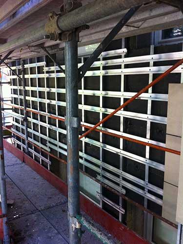 Dettaglio posa facciata ventilata