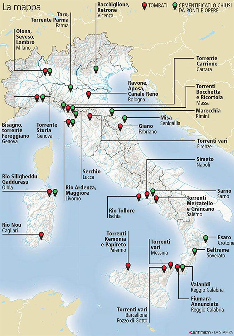 impermeabilizzazione del suolo in Italia