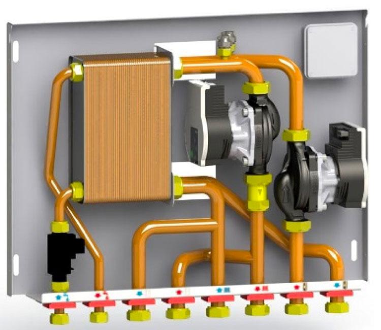 Scaldacqua senza combustione nel condominio con centrale termica